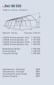 Zelt 10x5,64